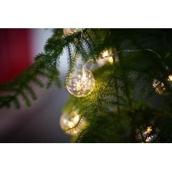 Stiklinių burbulų 9 LED lempučių girlianda