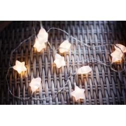 10 LED lempučių, matinių žvaigždučių girlianda