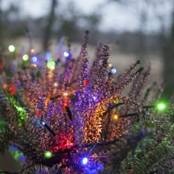 180 spalvotų LED lempučių lauko girlianda