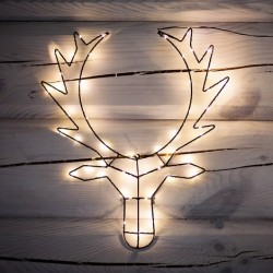 Dekoratyvus briedis, 50 LED lempučių