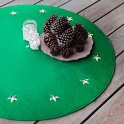 12 LED lempučių eglutės kilimėlis (žalios sp.)