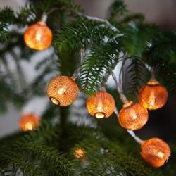 10 LED varinių kamuoliukų girlianda, 135 cm