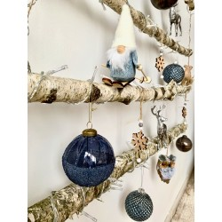 "Eglutė ""Be spyglių"" su dekoracijomis Blue Forest"